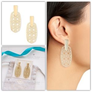 Kendra Scott Aragon Drop Earrings In Gold Filigree